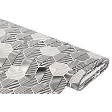 Tissu de décoration 'nids d'abeilles', blanc cassé/graphite, de la série Lorena