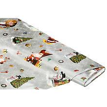Abwaschbare Tischwäsche - Wachstuch 'Weihnachts-Design', grau-color