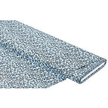 Baumwollstoff 'Blümchen', hellblau-color