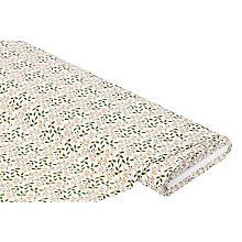 Baumwollstoff Zweige 'Mona', weiß/braun/grün