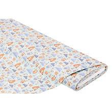 Tissu coton 'ours/hiboux', menthe/multicolore