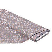 Tissu coton 'branches', bleu fumé/marron