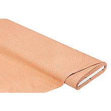 Tissu coton 'triangles', marron clair/ blanc