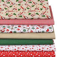Patchwork- und Quiltpaket 'Weihnachten/Rentier', rot/grün/natur