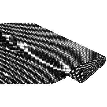 Baumwollstoff Tüpfchen 'Mona', schwarz/weiß, 2 mm Ø