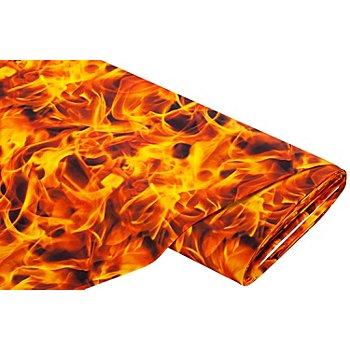 Tissu coton à impression numérique 'feu'