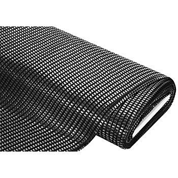 Netzstoff, silber/schwarz