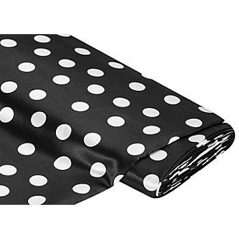 Tissu satin 'pois', noir/blanc