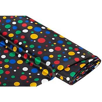 Tissu satin noir/multicolore