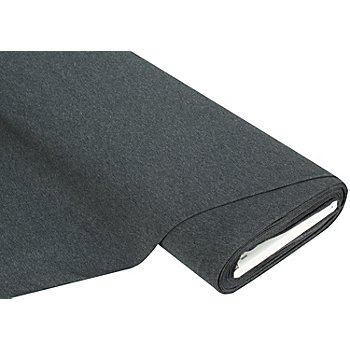 Tissu jersey extensible, anthracite-mélange
