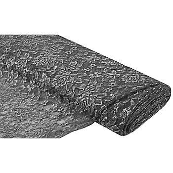 Tissu dentelle 'Marie', gris
