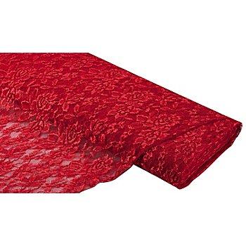 Tissu dentelle 'Marie', rouge foncé
