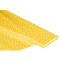 Abwaschbare Tischwäsche - Wachstuch Tüpfchen, gelb/weiß