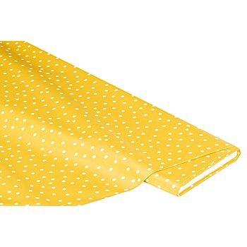 Linge de table épongeable - toile cirée 'pois', jaune/blanc