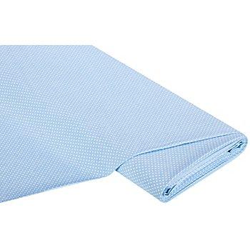 Tissu coton 'pois', bleu clair/blanc, 2 mm Ø