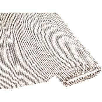 Buntgewebtes Vichykaro 5 x 5 mm, taupe/weiß