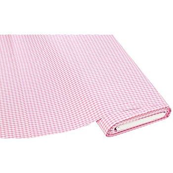 Buntgewebtes Vichykaro 5 x 5 mm, rosa/weiss