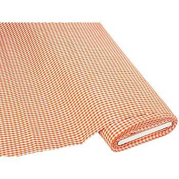 Buntgewebtes Vichykaro 5 x 5 mm, orange/weiß