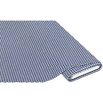 Tissu coton 'carreaux vichy', 5 x 5 mm, bleu/blanc