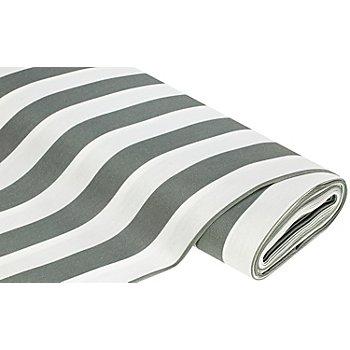 Allround-Gewebe 'Madrid Streifen', grau/weiss
