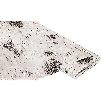 Baumwollstoff-Digitaldruck 'Birkenstamm Ria', weiß-color