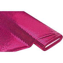 Tissu à paillettes scintillantes, rose vif, 6 mm Ø, 135 cm de large