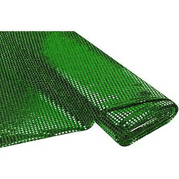 Tissu à paillettes scintillant, vert/noir, 6 mm Ø, 150 cm de large