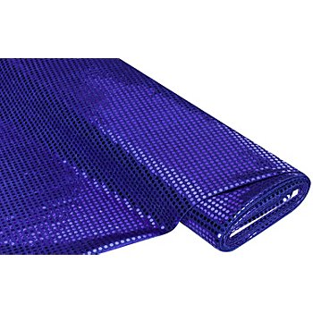 Paillettenstoff 'Gloss', royalblau, 6 mm Ø, 135 cm breit
