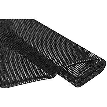 Tissu à paillettes scintillant, noir, 6 mm Ø, 150 cm de large