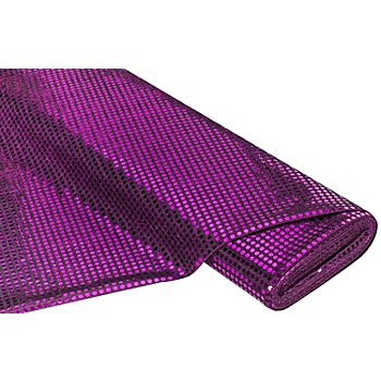 Paillettenstoff 'Gloss', lila/schwarz, 6 mm Ø, 135 cm breit