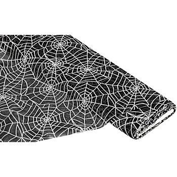 Tissu organza 'toile d'araignée', noir/blanc