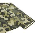 """Baumwollstoff """"Camouflage"""" grün"""