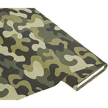 Baumwollstoff 'Camouflage' grün