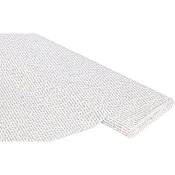 Baumwollstoff Schriften 'Mona', taupe/weiß