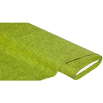 Beschichtetes Baumwollmischgewebe 'Meran' Uni, apfelgrün
