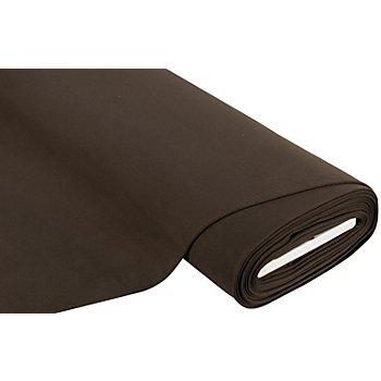 Sweatstoff 'Basic' mit weich gerauter Innenseite, dunkelbraun
