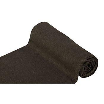 Tissu bord côte 'confort', marron foncé