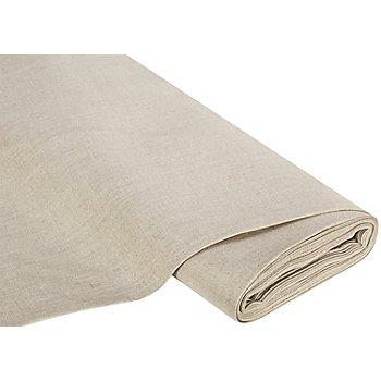 Tissu lin, couleur lin, env. 12 fils/cm