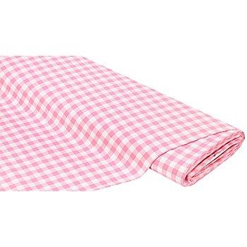 Tissu coton 'carreaux vichy', 1 x 1 cm, rose/blanc
