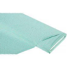 Tissu coton 'losanges miniatures', vert jade/blanc