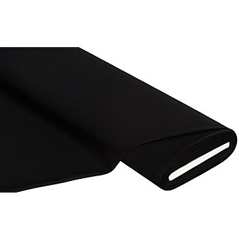 Tissu jersey romanite 'Gianni' avec de l'élasthanne, noir