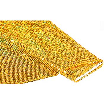 Paillettenstoff 'Paillettenregen', Hologramm, gold