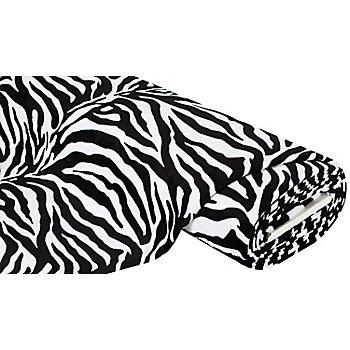 Wellness-Fleece 'Zebra', schwarz/weiß