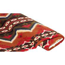 Fleecestoff Mexiko, braun-color