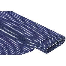 Jeansstoff Sternchen, blau/ecru