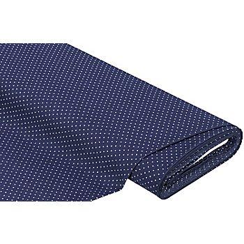 Jeansstoff Tüpfchen, blau/ecru