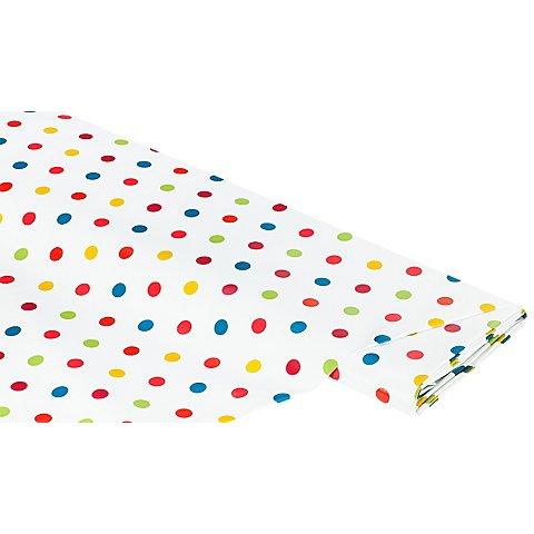 Image of Abwaschbare Tischwäsche - Wachstuch Punkte bunt