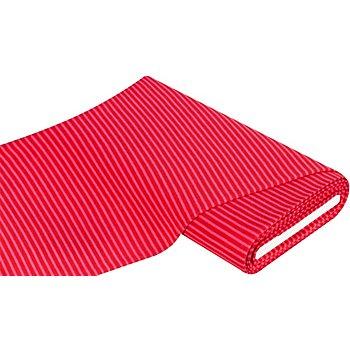 Tissu bord côte à rayures, framboise/rose vif