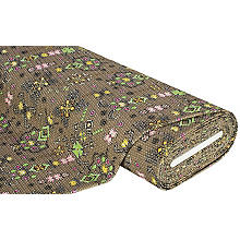 Elastik-Jacquard Folklore, khaki-color