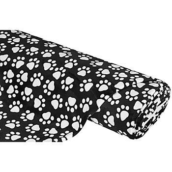 Wellness-Fleece 'Tatzen', schwarz/weiß